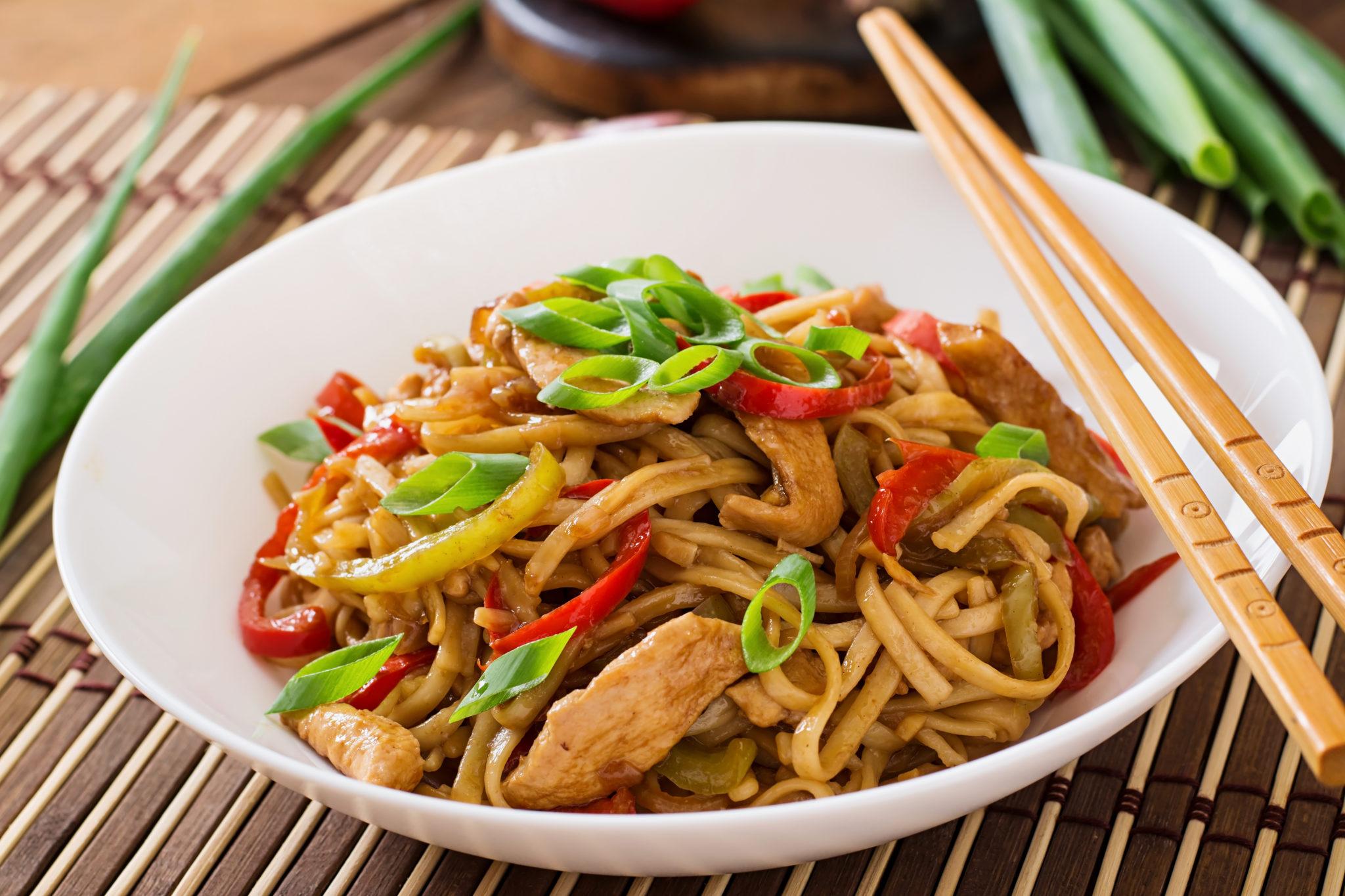 Receta de Noodles de verdura y pollo